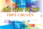 CẤU TRÚC ĐỀ THI VÀO TRƯỜNG THPT CHUYÊN NĂM HỌC 2018-2019