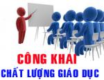 Công khai việc thực hiện cam kết chất lượng giáo dục