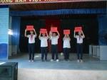 """Hội thi """" chúng em với an toàn giao thông"""" tại trường THCS Nguyễn Duy Hiệu"""