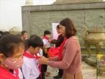 Lễ kết nạp đội viên trường Tiểu học Sơn Phong Năm học 2020-2021