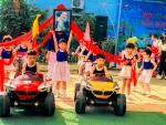 """rường MG Cẩm Hà tổ chức Ngày hội Bé Mầm non vui khỏe với chủ đề """"Hòa bình cho Bé""""."""