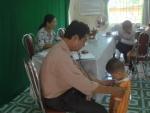 Trường Mầm Non Cẩm Châu tổ chức khám sức khỏe cho các cháu