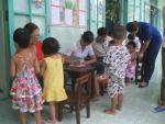 Trường Mẫu Giáo Cẩm Kim tổ chức khám sức khỏe đầu năm