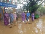 Trường TH Trần Quốc Toản đã dọn vệ sinh sau đợt lụt.