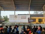 Trường THCS Huỳnh Thị Lựu tổ chức ngoại khóa Giáo dục  ATGT cho nụ cười ngày mai