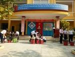 Trường THCS Huỳnh Thị Lựu tuyên truyền giảm thiểu túi ni lông và An toàn thực phẩm
