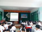 Trường THCS Nguyễn Bình Khiêm tổ chức ngoại khóa về giáo dục an toàn giao thông cho nụ cười ngày mai