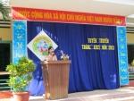 Trường Tiểu học Bùi Chát tổ chức tuyên truyền phát động tháng An toàn Giao thông