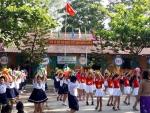 Trường Tiểu học Nguyễn Bá Ngọc tổ chức  Hội thi Nghi thức Đội - Múa hát tập thể