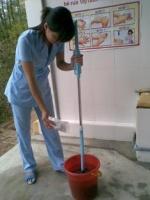 Vệ sinh phòng ngừa dịch bệnh tại trường MN Cẩm Hà